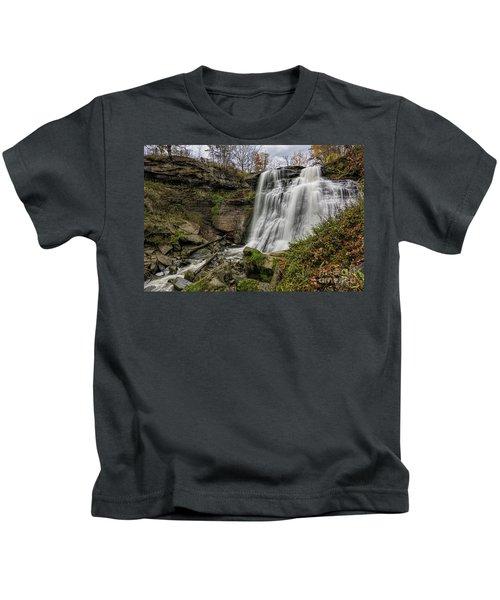 Brandywine Falls Kids T-Shirt by James Dean