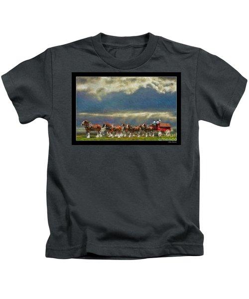 Budweiser Clydesdale Paint 2 Kids T-Shirt