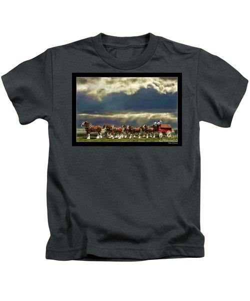 Budweiser Clydesdales Paint 1 Kids T-Shirt