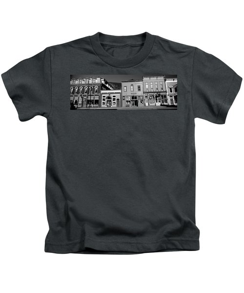 Buildings In A Town, Old Mining Town Kids T-Shirt
