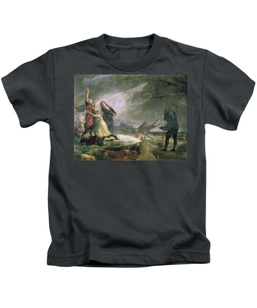 Burial At La Moncloa In May 1808 Oil On Canvas Kids T-Shirt