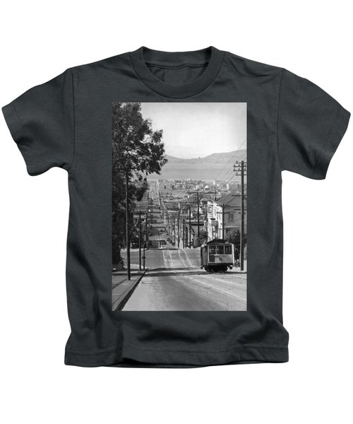 Cable Cars On Fillmore Street Kids T-Shirt