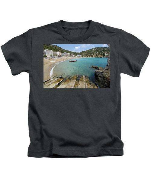 Cala San Vicente, Ibiza, Balearic Kids T-Shirt