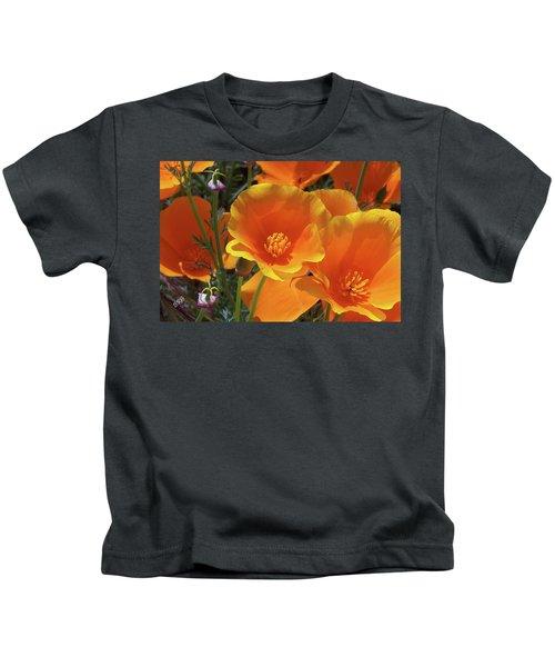 California Poppies Kids T-Shirt