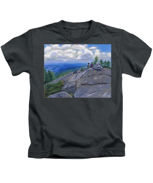 Campers On Mount Percival Kids T-Shirt
