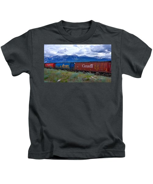 Canadian Freight Train In Jasper #2 Kids T-Shirt