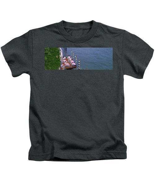 Canal Side Cafe Venice Italy Kids T-Shirt