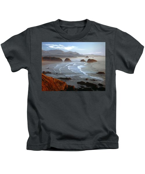 Cannon Beach At Sunset Kids T-Shirt