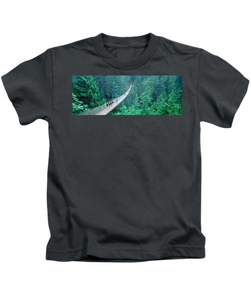 Capilano Bridge, Suspended Walk Kids T-Shirt