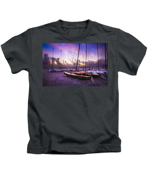 Cats At Dawn Kids T-Shirt