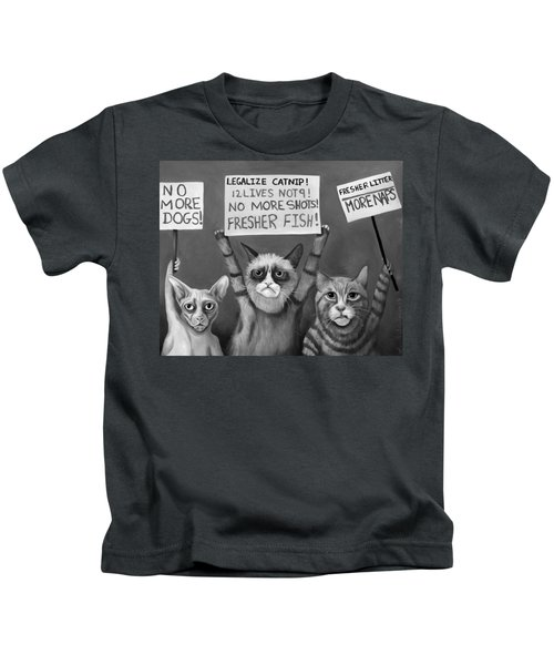Cats On Strike Edit 4 Kids T-Shirt