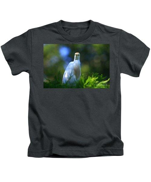 Cattle Egret Eyes Kids T-Shirt
