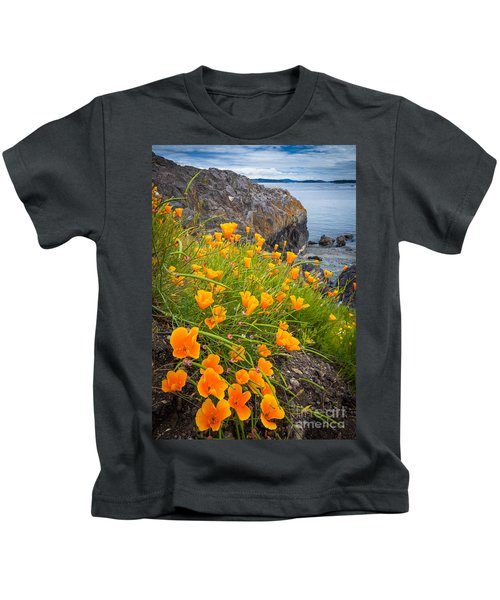 Cattle Point Poppies Kids T-Shirt