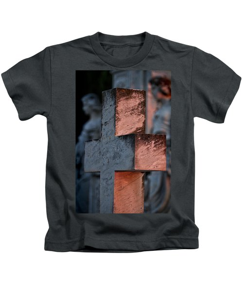 Cemetery Cross - Hvar Croatia Kids T-Shirt