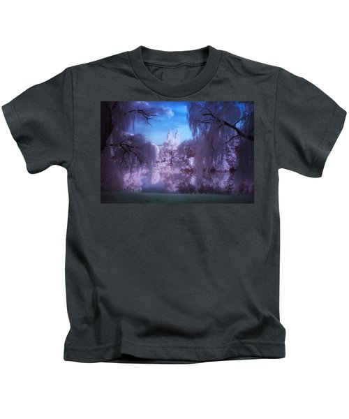 Central Park Lake Willows Color Kids T-Shirt