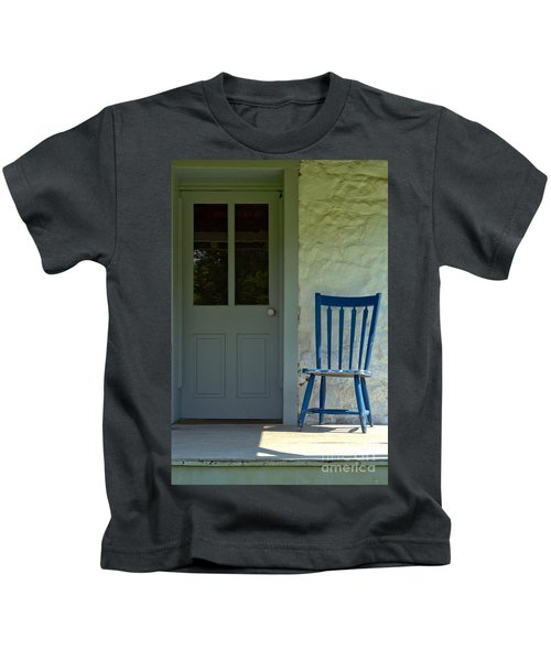 Chair On Farmhouse Porch Kids T-Shirt