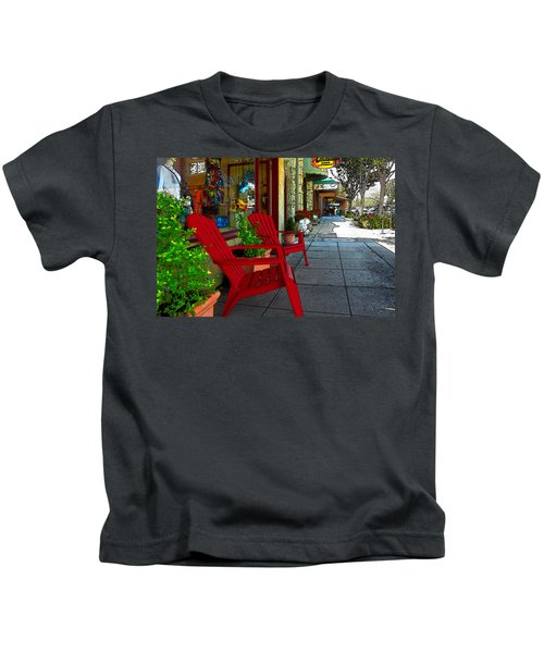 Chairs On A Sidewalk Kids T-Shirt