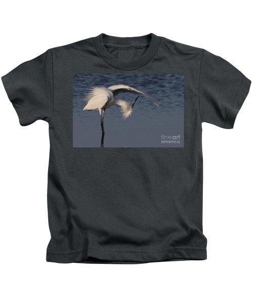 Checking For Leaks - Reddish Egret - White Form Kids T-Shirt