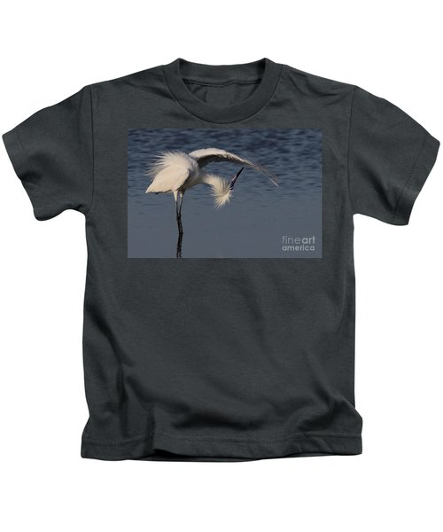 Checking For Leaks - Reddish Egret - White Form Kids T-Shirt