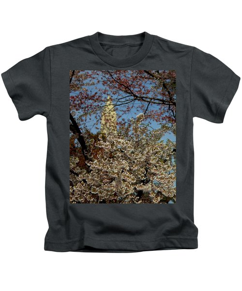 Cherry Blossoms And The Monument Kids T-Shirt