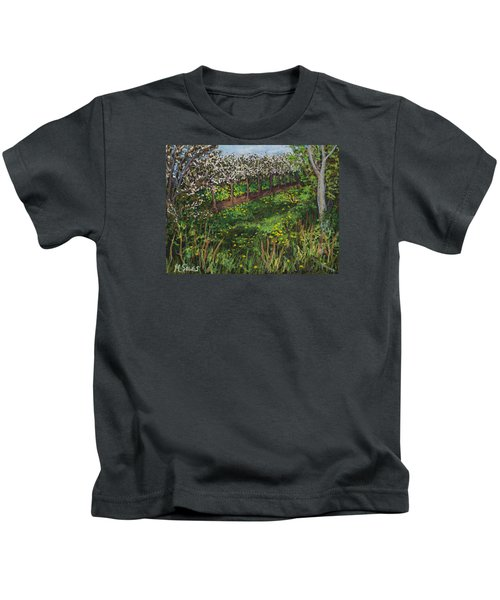 Cherry Orchard Evening Kids T-Shirt
