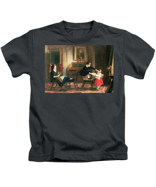 Children Playing At Coach And Horses Kids T-Shirt