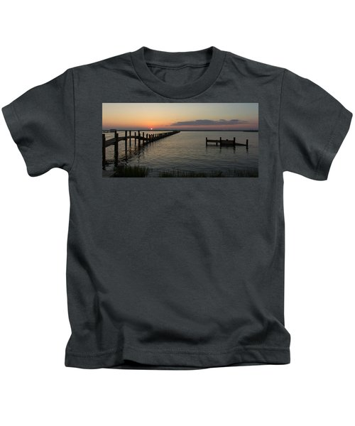 Chincoteague Island Sunset Kids T-Shirt