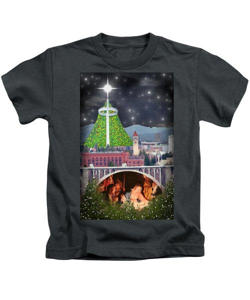 Christmas In Spokane Kids T-Shirt