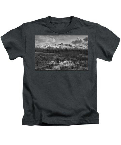 Chugach Mtn Range Kids T-Shirt