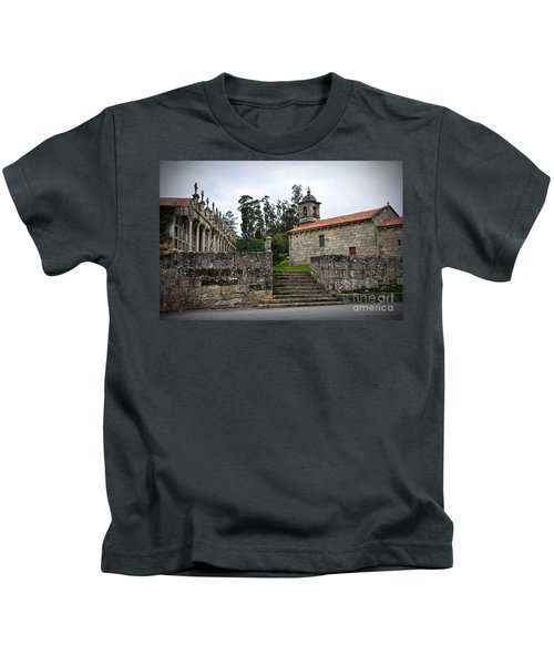Church And Cemetery In A Small Village In Galicia Kids T-Shirt