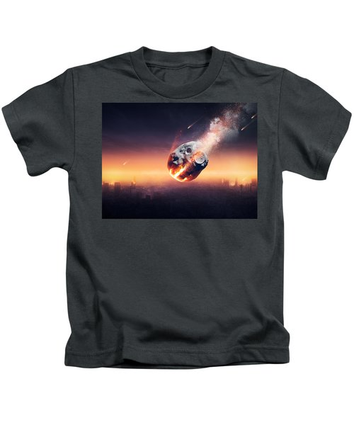 City Destroyed By Meteor Shower Kids T-Shirt