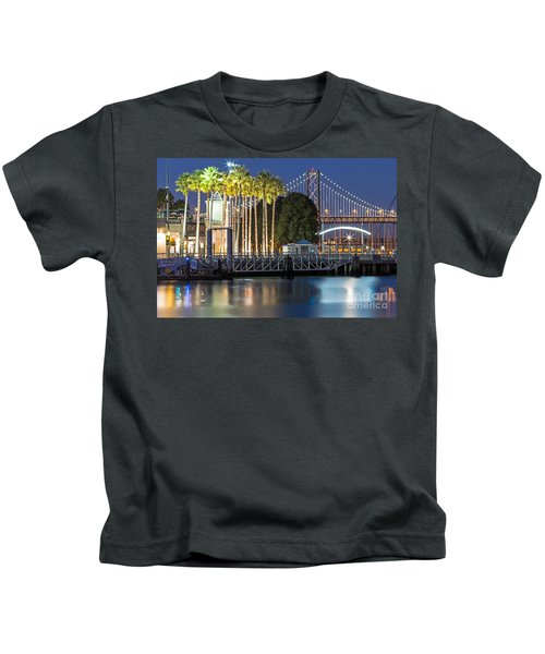 City Lights On Mission Bay Kids T-Shirt