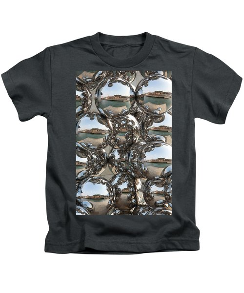 City Reflection In Chrome Spheres Kids T-Shirt