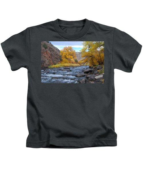 Clear Creek Canyon Autumn Kids T-Shirt