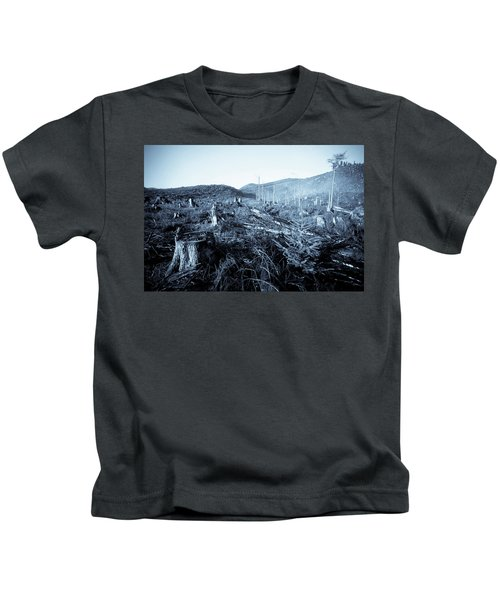 Clearcut Forest On The Oregon Coast Kids T-Shirt