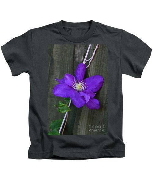 Clematis On A String Kids T-Shirt