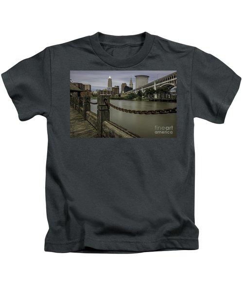 Cleveland Ohio Kids T-Shirt by James Dean