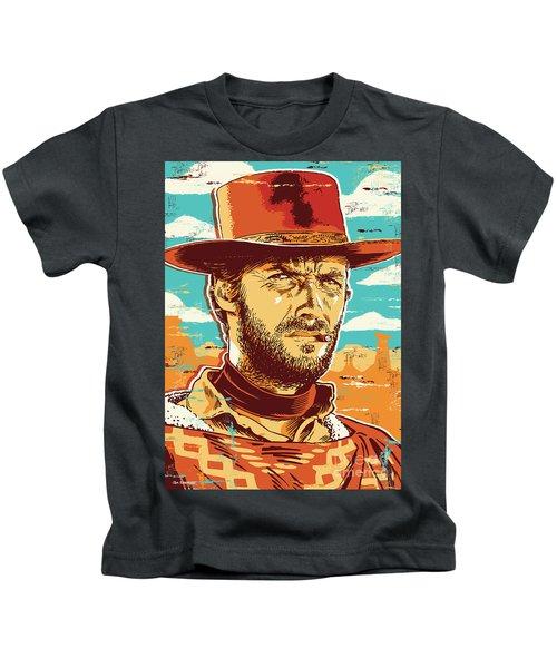 Clint Eastwood Pop Art Kids T-Shirt