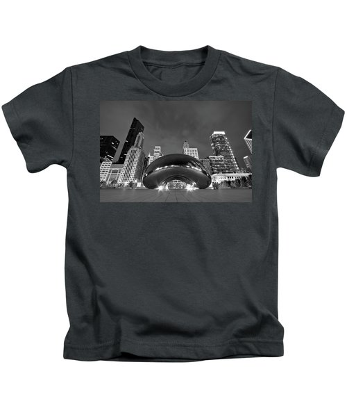 Cloud Gate And Skyline Kids T-Shirt