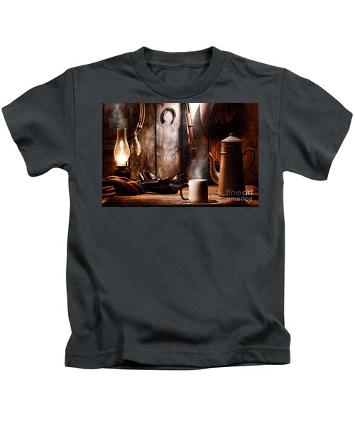 Coffee At The Cabin Kids T-Shirt