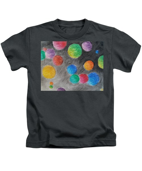 Colorful Orbs Kids T-Shirt