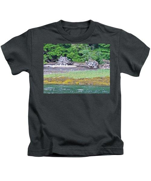 Colors Of Alaska - Layers Of Greens Kids T-Shirt