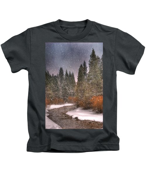 Colours Of Winter Kids T-Shirt