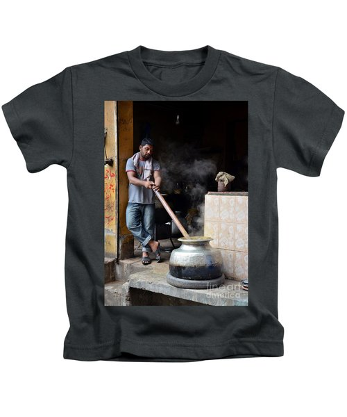 Cooking Breakfast Early Morning Lahore Pakistan Kids T-Shirt