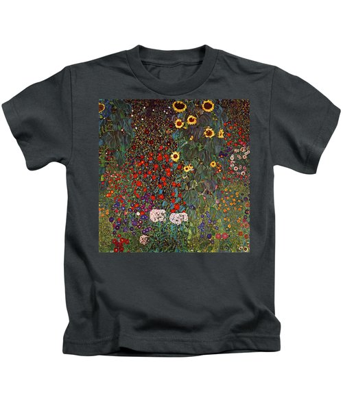 Country Garden With Sunflowers Kids T-Shirt