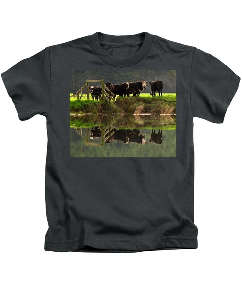 Cow Reflections Kids T-Shirt