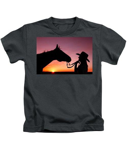 Cowgirl Sunset Kids T-Shirt