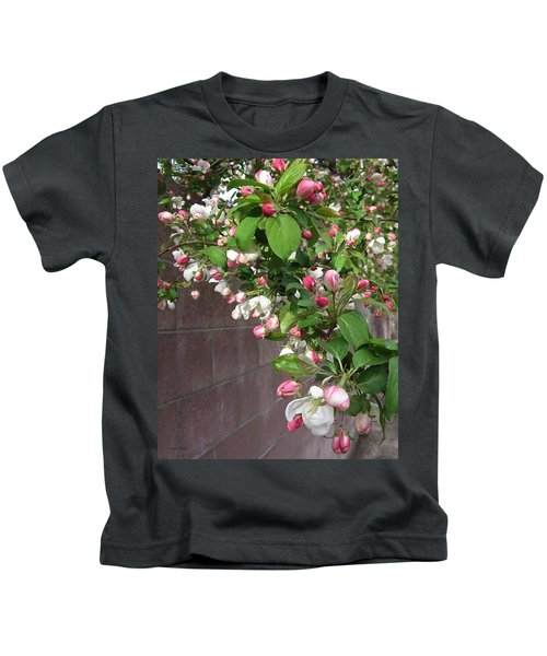 Crabapple Blossoms And Wall Kids T-Shirt