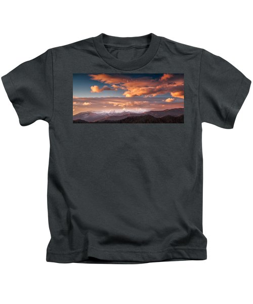 Craggy Snow Kids T-Shirt