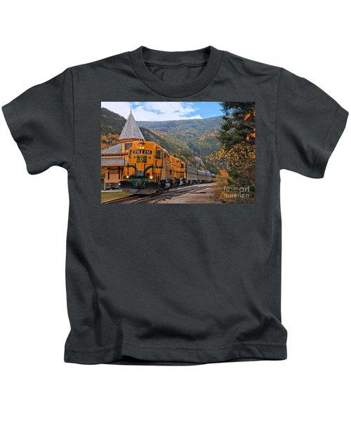 Crawford Notch Train Depot Kids T-Shirt